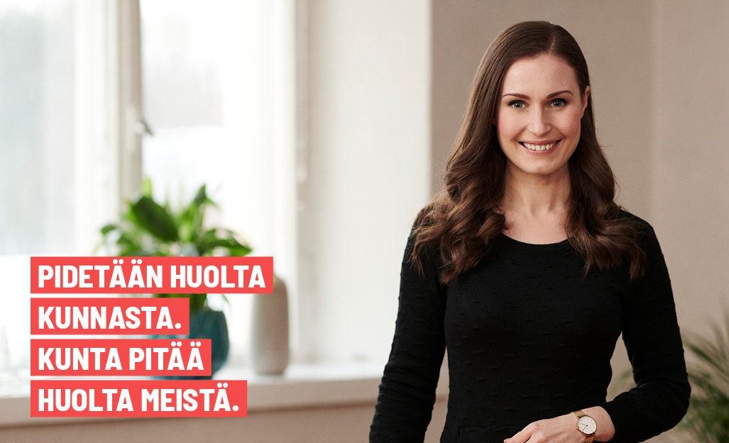 SDP:n kuntavaaliohjelma: Pidetään huolta kunnasta. Kunta pitää huolta meistä.